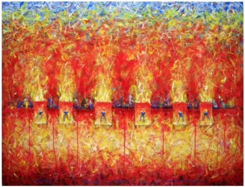 Incendio al deposito degli oli a SanMarcuola100x132